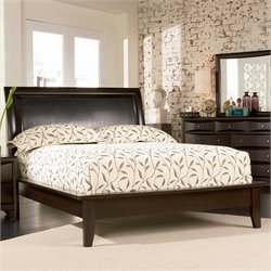 Coaster Phoenix Upholstered Platform Bed in Cappuccino Finish - Queen