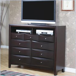 Coaster Phoenix 7 Drawer Media Chest in Rich Cappuccino Finish
