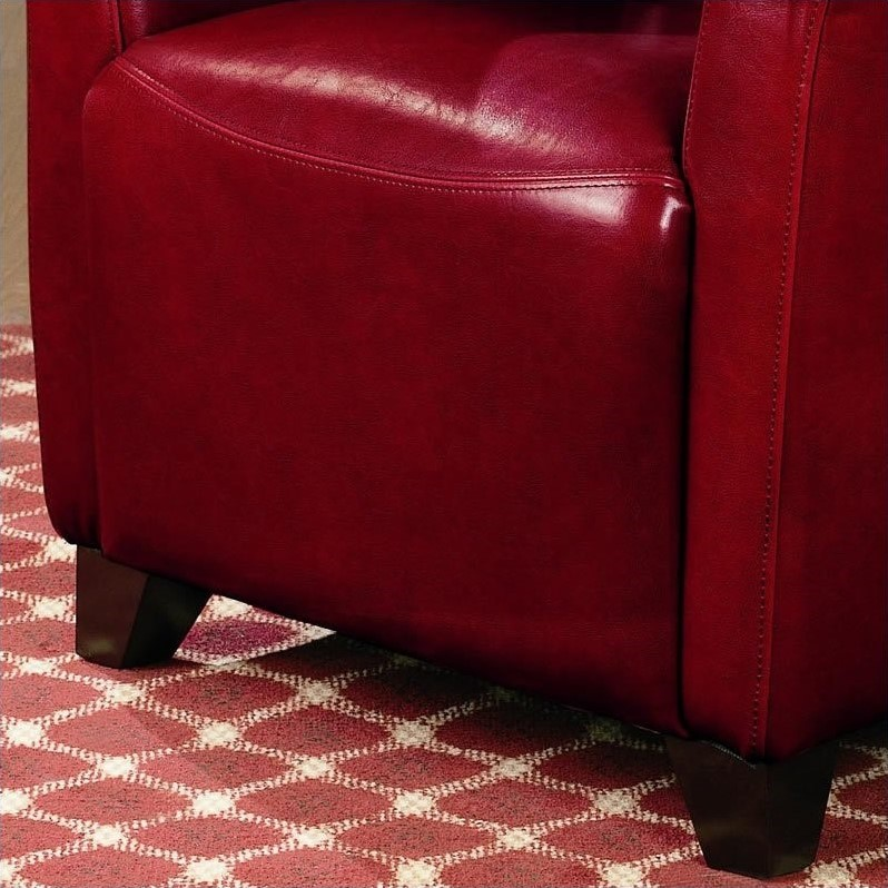 Coaster Accent Faux Leather Club Chair in Red