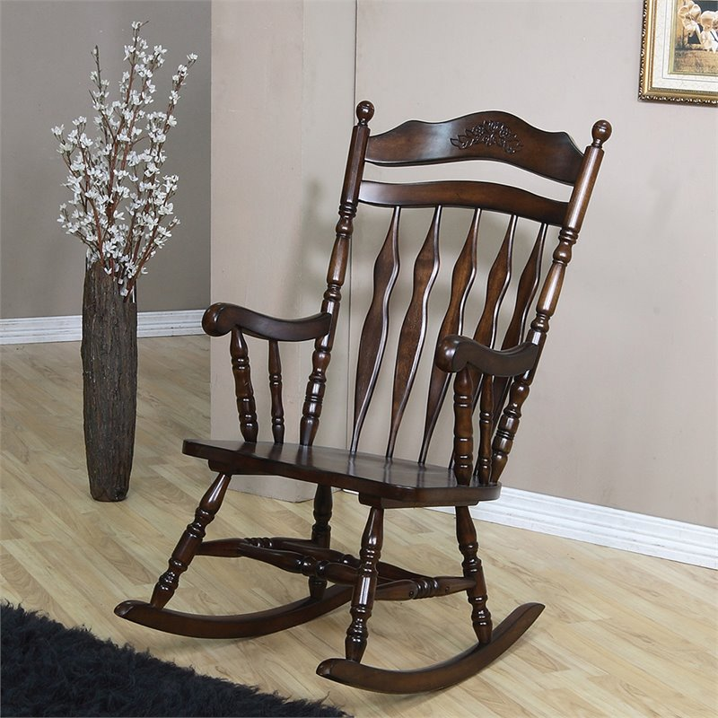 Coaster Traditional Country Wood Rocker