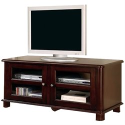 Coaster Cappuccino Transitional Media Console with Doors and Shelves