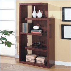 Coaster Cappuccino Semi Backless Bookcase
