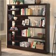 ADD TO YOUR SET: Coaster Wide Semi Backless Bookcase in Cappuccino