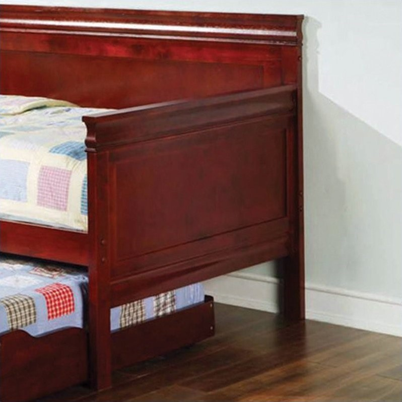 Coaster  Wood Daybed With Trundle in Cherry Finish