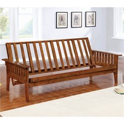 Coaster Full Size Futon Frame in Dirty Oak