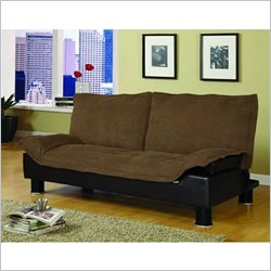 Coaster Futon Sofa Bed in Brown Fabric