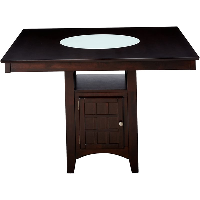 Coaster Hyde Counter Height Square Dining Table with Storage Base in ...