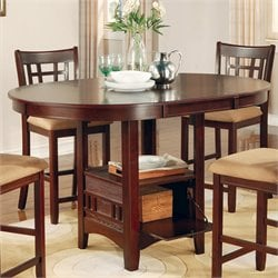 Coaster Lavon Counter Height Dining Table in Cherry