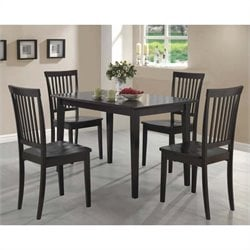 Coaster 5 Piece Dining Set in Cappuccino