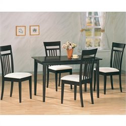 Coaster Andrews 5 Piece Upholstered Chair Dining Set in Cappuccino