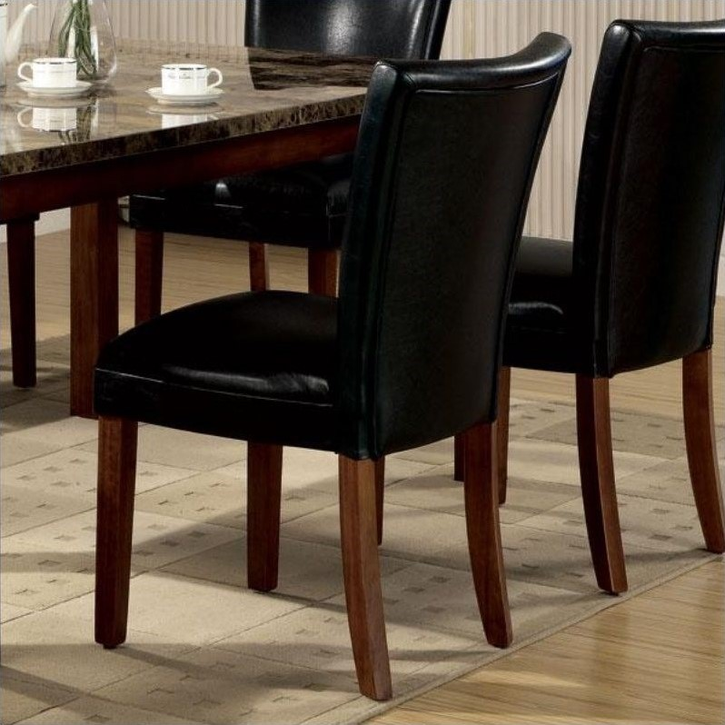 Coaster Telegraph Parson Dining Chair in Black Leatherette