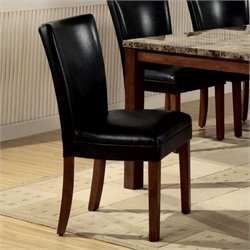 Coaster Telegraph Parson Chair in Black Leatherette