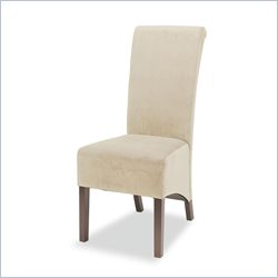 Coaster Rolled Back Parson Dining Chair in Tan