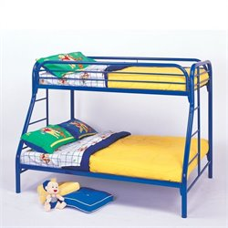 Coaster Tracey Twin over Full Metal Bunk Bed in Blue Finish