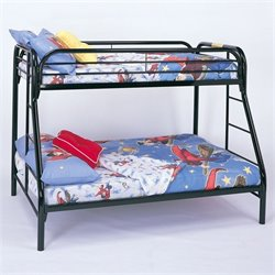 Coaster Tracey Twin over Full Metal Bunk Bed in Black Finish
