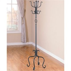 Coaster Black Metal Coat Rack