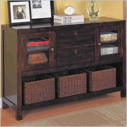 Coaster Dickson Console Table with Basket Storage in Warm Tobacco Finish