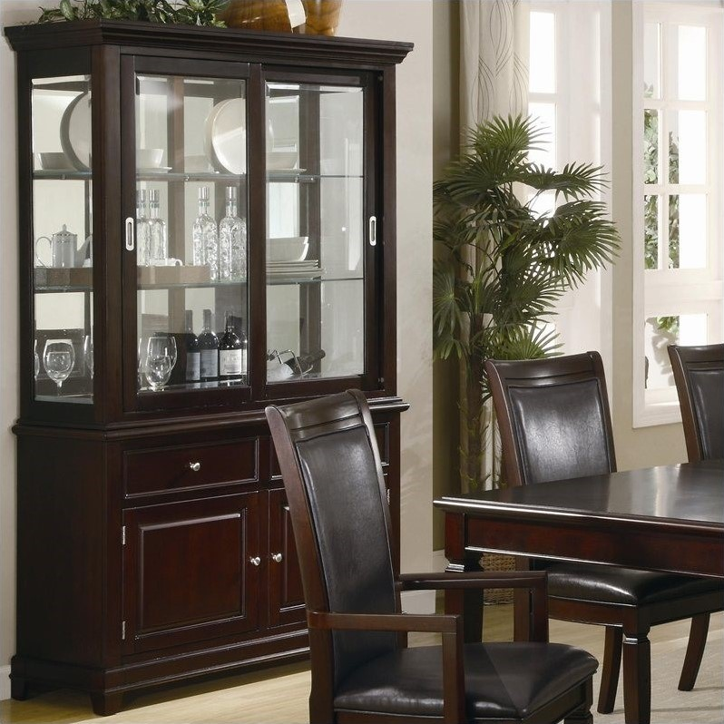 Coaster ramona formal dining room china cabinet in walnut for Dining room armoire
