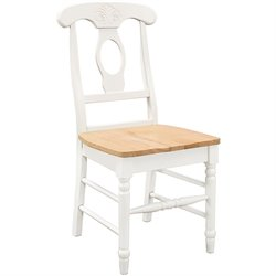 Coaster Damen Napoleon Dining Chair in White and Natural