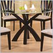 ADD TO YOUR SET: Coaster Shoemaker Crossing Pedestal Dining Table with Glass Top in Cappuccino