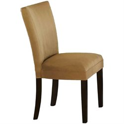 Coaster Bloomfield Parson Side Chair with Gold Ochre Microfiber