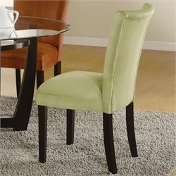 Coaster Bloomfield Upholstered Parson Side Chair in Light Green