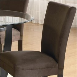 Coaster Bloomfield Parson  Dining Chair with Chocolate Fabric