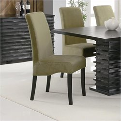 Coaster Stanton Rich Black Side Chair with Sleek Green Material