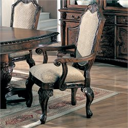 Coaster Saint Charles UpholsteredArm Dining Chair (Set of 2)