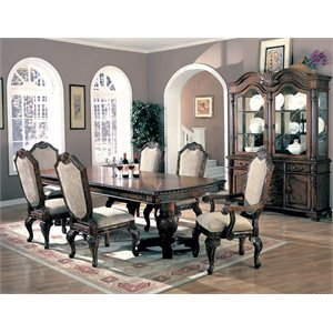 Coaster Saint Charles 8 Piece Dining Set in Deep Brown