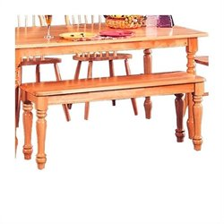 Coaster Damen Traditional Wood Dining Bench in Warm Natural Wood Finish