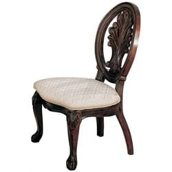 Coaster Tabitha Traditional Dining Side Chair in Dark Cherry Finish