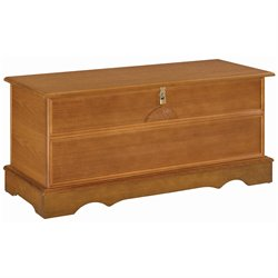 Coaster Cedar Chest with Locking Lid in Oak