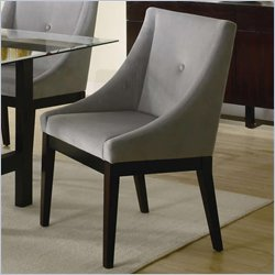 Coaster Alvarado Upholstered Dining Side Chair in Cappuccino Finish