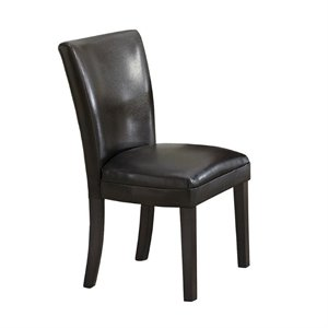 Coaster Carter Upholstered Dining Chair in Black
