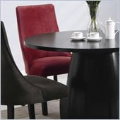 Coaster Amhurst Black Finished Dining Side Chair with Red Upholstery
