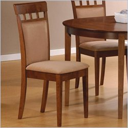 Coaster Hyde Upholstered Back Panel  Dining Chair with Fabric Seat