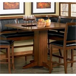 Coaster Lancaster Counter Height Dining Table in Distressed Dark Brown