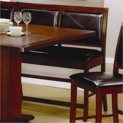 Coaster Lancaster Counter Height Dining Bench in Faux Leather