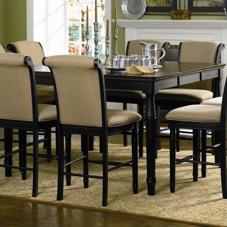 Coaster Cabrillo Square/Rectangular Counter Height Dining Table in Deep Black