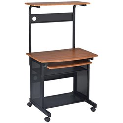 Coaster Desks Casual Computer Unit with Storage and Casters
