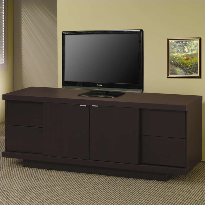 TV Stands Contemporary Media Console with Drawers and Shelves