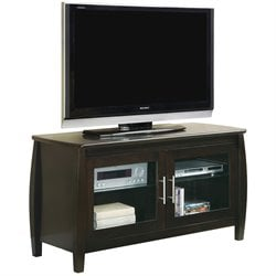 Coaster TV Stands Contemporary Media Console in Cappucino with Doors