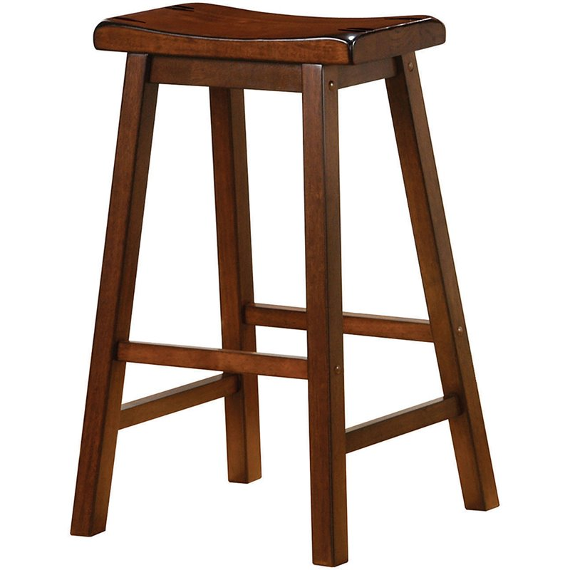 Enjoyable Coaster 29 Backless Wooden Classic Bar Stool In Chestnut Gmtry Best Dining Table And Chair Ideas Images Gmtryco