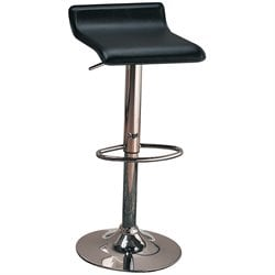 Adjustable Bar Stool with Chrome Base