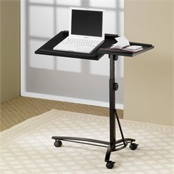 Coaster Desks Adjustable Mobile Laptop Stand in Black