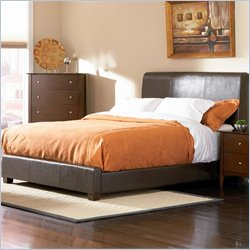 Coaster Tamara Faux Leather Upholstered Bed in Walnut Finish - California King