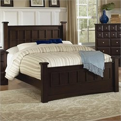 Coaster Harbor Panel Post Bed in Cappuccino Finish - California King
