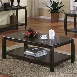Coaster Marina Coffee Table with 1 Shelf in Cappuccino Finish