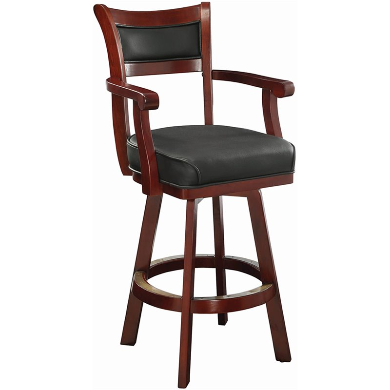 Coaster Lambert 30quot Leather Back Swivel Bar Stool in  : 365583 L from cymax.com size 798 x 798 jpeg 120kB